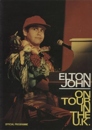 Elton John On Tour In The UK tour programme UK JOHTRON118006