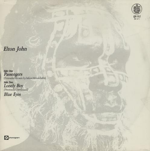 "Elton John Passengers - Hype Stickered sleeve 12"" vinyl single (12 inch record / Maxi-single) UK JOH12PA758033"