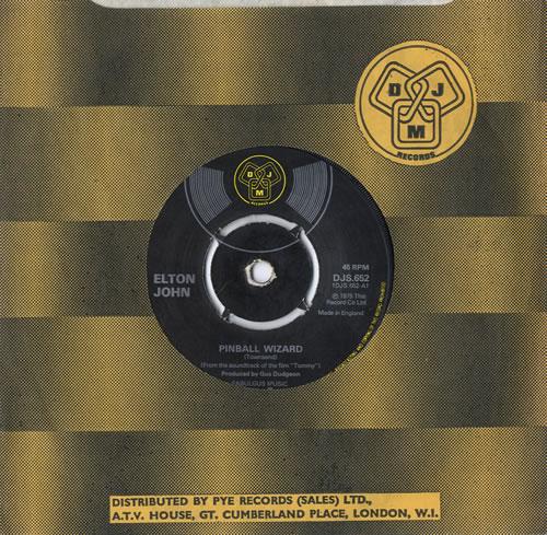 "Elton John Pinball Wizard - 4pr 7"" vinyl single (7 inch record) UK JOH07PI565088"