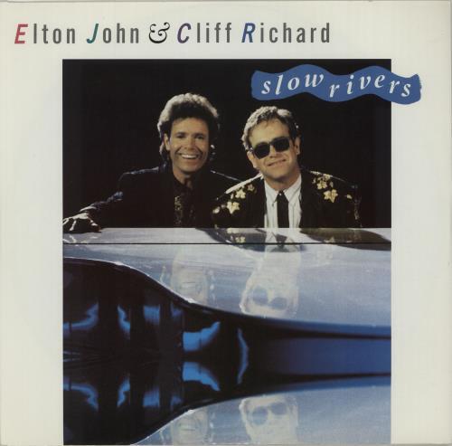 """Elton John Slow Rivers 12"""" vinyl single (12 inch record / Maxi-single) UK JOH12SL16529"""