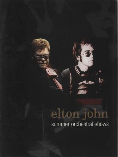 Elton John Summer Orchestral Shows tour programme UK JOHTRSU692889