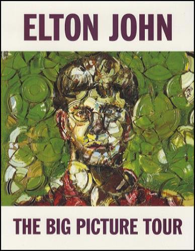 Elton John The Big Picture Tour tour programme US JOHTRTH114021