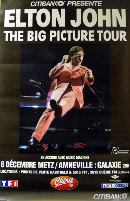 Elton John The Big Picture Tour poster French JOHPOTH610270