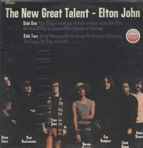 Elton John The New Great Talent - Elton John vinyl LP album (LP record) Colombian JOHLPTH280366