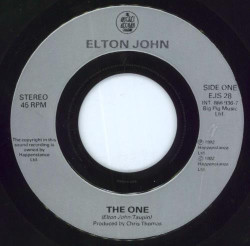 """Elton John The One - Jukebox 7"""" vinyl single (7 inch record) UK JOH07TH638656"""
