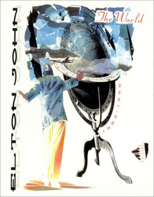 Elton John The World - 1989-90 + Wembley Ticket Stub tour programme UK JOHTRTH497216