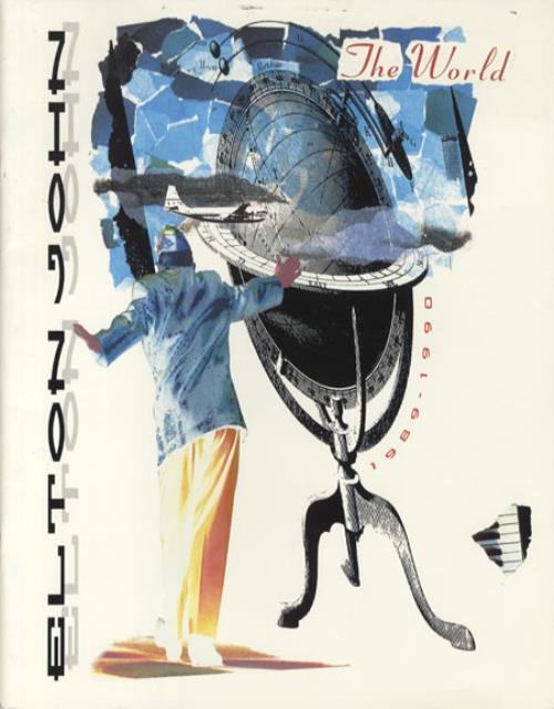 Elton John The World 1989-1990 tour programme UK JOHTRTH345205
