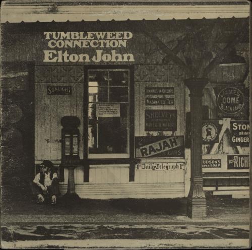 Elton John Tumbleweed Connection - Red - VG/WOS vinyl LP album (LP record) UK JOHLPTU763842