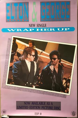 Elton John Wrap Her Up poster UK JOHPOWR706037