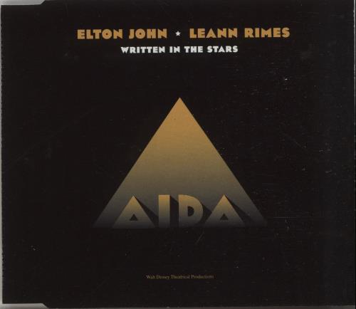 "Elton John Written In The Stars - Withdrawn Sleeve CD single (CD5 / 5"") UK JOHC5WR129472"