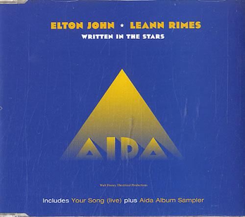 """Elton John Written In The Stars CD single (CD5 / 5"""") UK JOHC5WR145304"""