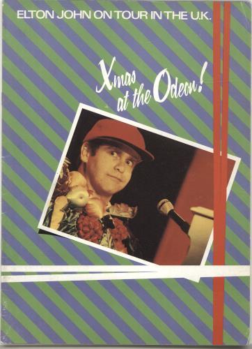 Elton John Xmas At The Odeon tour programme UK JOHTRXM690317