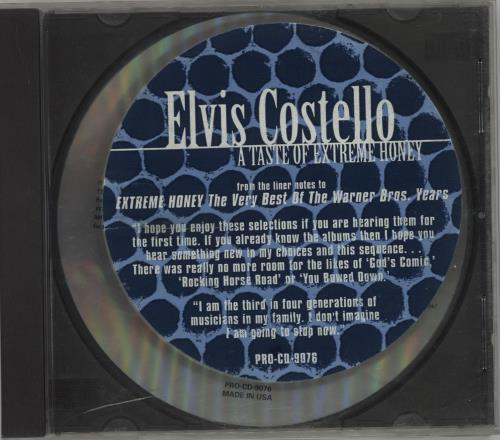 "Elvis Costello A Taste Of Extreme Honey Sampler CD single (CD5 / 5"") US COSC5AT98939"