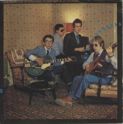 """Elvis Costello (I Don't Want To Go To) Chelsea - P/S 7"""" vinyl single (7 inch record) UK COS07ID669406"""