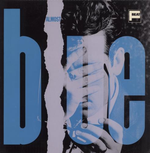 Elvis Costello Almost Blue - B/P P/S - Stickered vinyl LP album (LP record) UK COSLPAL771801