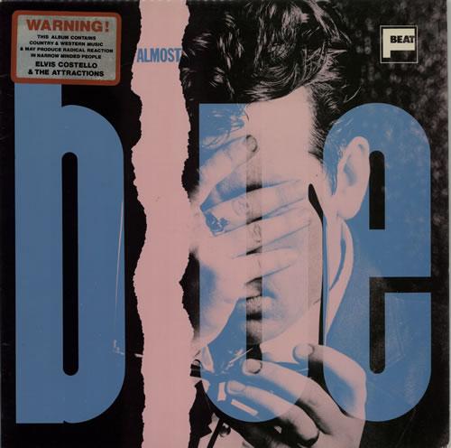 Elvis Costello Almost Blue - P/B P/S - Stickered vinyl LP album (LP record) UK COSLPAL606307