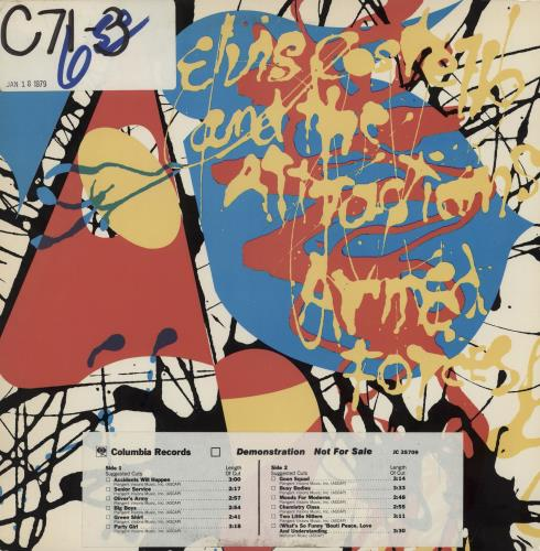 "Elvis Costello Armed Forces + 7"" - Timing Sticker vinyl LP album (LP record) US COSLPAR250178"