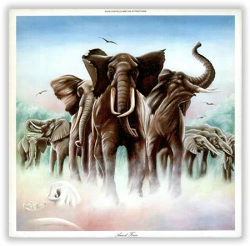 Elvis Costello Armed Forces - 1st + postcards vinyl LP album (LP record) UK COSLPAR420168