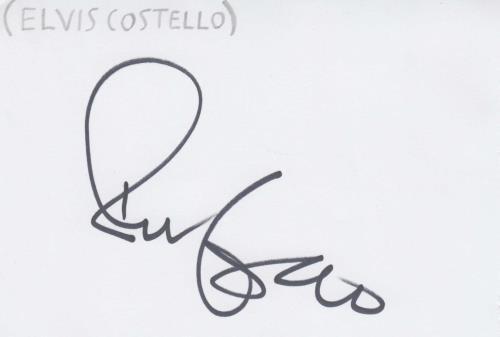Elvis Costello Autograph memorabilia UK COSMMAU713512