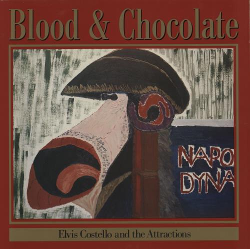 Elvis Costello Blood & Chocolate + Discography Inserts vinyl LP album (LP record) UK COSLPBL756697