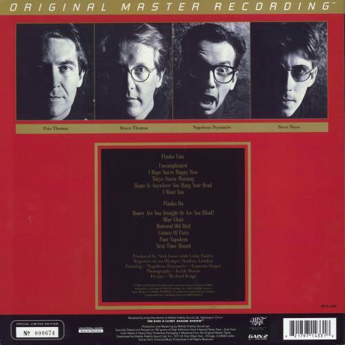 Elvis Costello Blood & Chocolate - 180 Gram Numbered vinyl LP album (LP record) US COSLPBL769576
