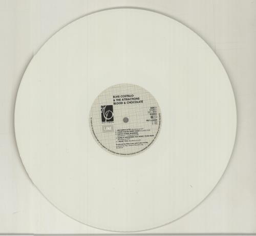 Elvis Costello Blood & Chocolate - White Vinyl vinyl LP album (LP record) German COSLPBL69259