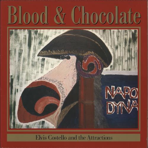 Elvis Costello Blood & Chocolate vinyl LP album (LP record) Canadian COSLPBL707471