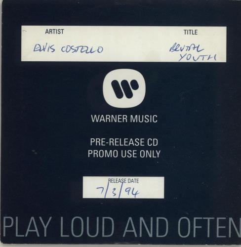 Elvis Costello Brutal Youth CD album (CDLP) German COSCDBR686446