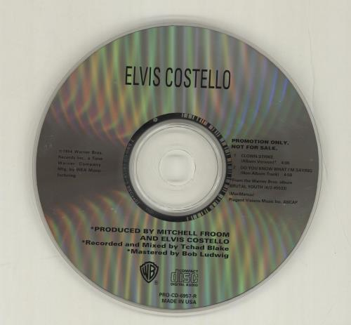 """Elvis Costello Clown Strike/do You Know What I'm Saying CD single (CD5 / 5"""") US COSC5CL30628"""