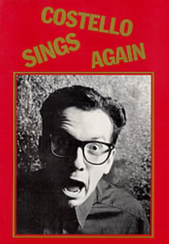 Elvis Costello Costello Sings Again tour programme UK COSTRCO150899