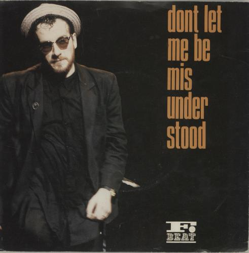 "Elvis Costello Don't Let Me Be Misunderstood 7"" vinyl single (7 inch record) UK COS07DO67224"