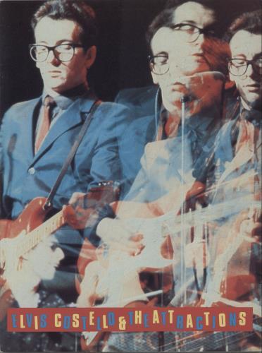 Elvis Costello Elvis Costello & The Attractions tour programme UK COSTREL297556