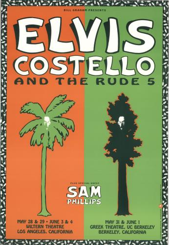 Elvis Costello Elvis Costello And The Rude 5 - 1991 poster US COSPOEL735539