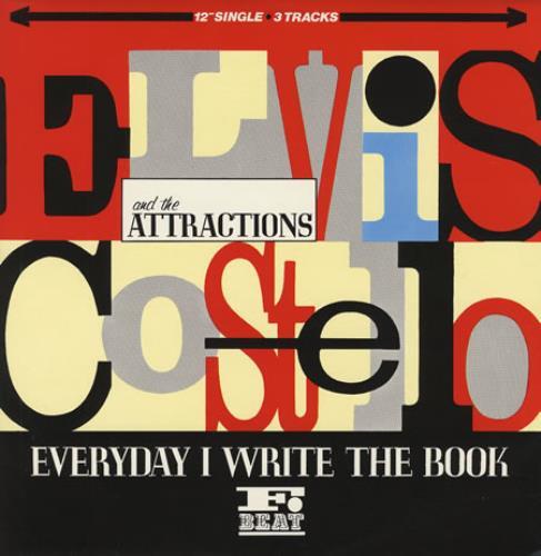 "Elvis Costello Everyday I Write The Book 12"" vinyl single (12 inch record / Maxi-single) UK COS12EV107544"
