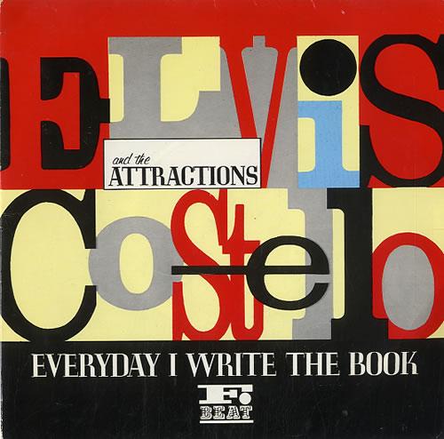 "Elvis Costello Everyday I Write The Book 7"" vinyl single (7 inch record) UK COS07EV129665"