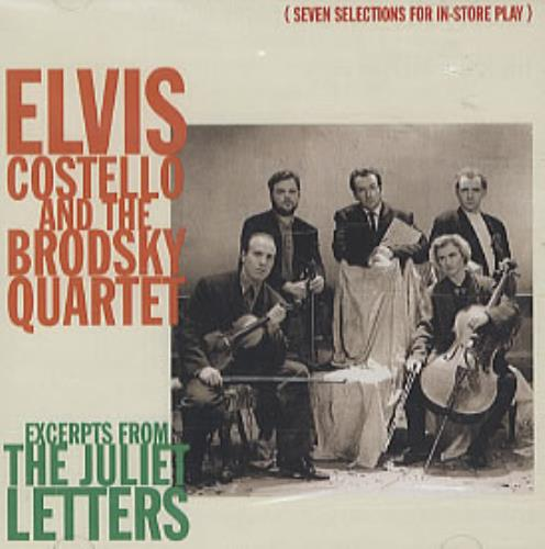 """Elvis Costello Excerpts From The Juliet Letters CD single (CD5 / 5"""") US COSC5EX37546"""