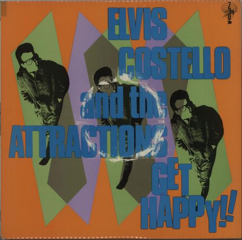 Elvis Costello Get Happy + Poster vinyl LP album (LP record) UK COSLPGE664522