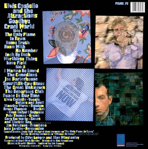Elvis Costello Goodbye Cruel World vinyl LP album (LP record) UK COSLPGO519075