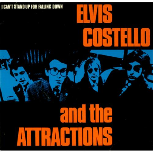 """Elvis Costello I Can't Stand Up For Falling Down - P/S 7"""" vinyl single (7 inch record) UK COS07IC42564"""