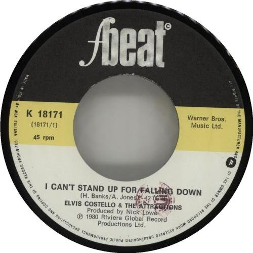 """Elvis Costello I Can't Stand Up For Falling Down 7"""" vinyl single (7 inch record) Italian COS07IC183487"""