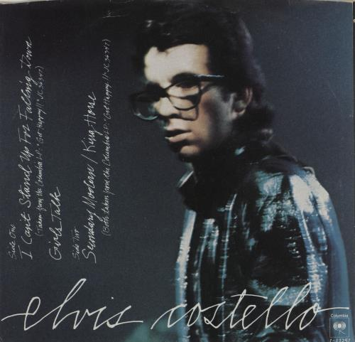 """Elvis Costello I Can't Stand Up For Falling Down 7"""" vinyl single (7 inch record) US COS07IC760687"""