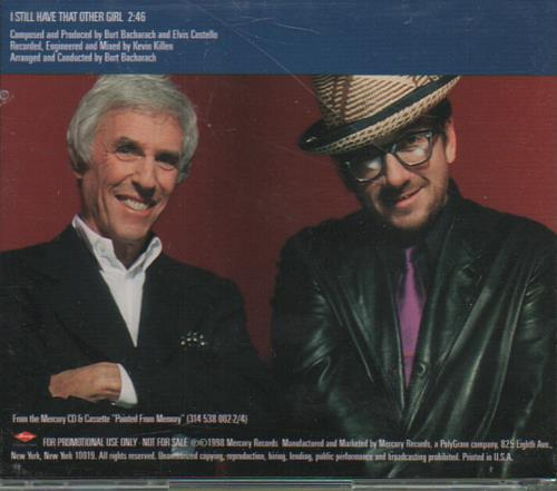 """Elvis Costello I Still Have That Other Girl CD single (CD5 / 5"""") US COSC5IS126566"""