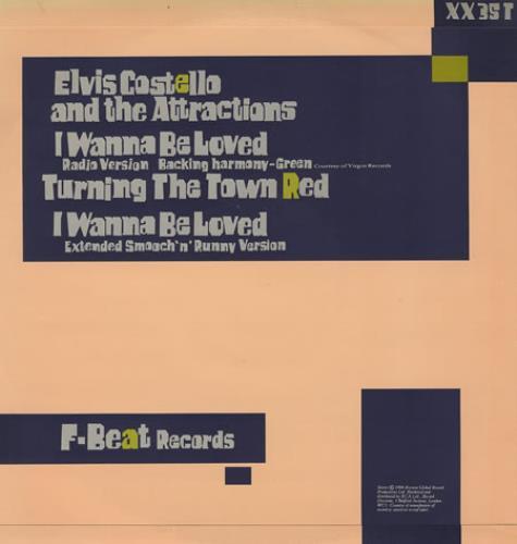 "Elvis Costello I Wanna Be Loved 12"" vinyl single (12 inch record / Maxi-single) UK COS12IW90058"