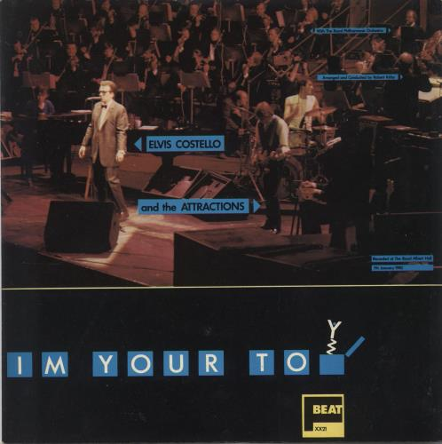 "Elvis Costello I'm Your Toy 7"" vinyl single (7 inch record) Irish COS07IM701098"