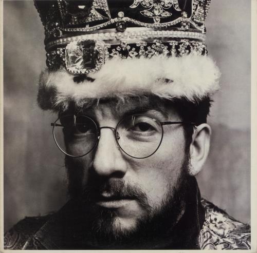 Elvis Costello King Of America - Gold Promo Stamped vinyl LP album (LP record) US COSLPKI761351
