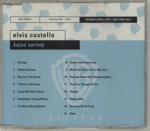 Elvis Costello Kojac Variety CD album (CDLP) UK COSCDKO45793