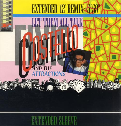 "Elvis Costello Let Them All Talk 12"" vinyl single (12 inch record / Maxi-single) UK COS12LE14136"
