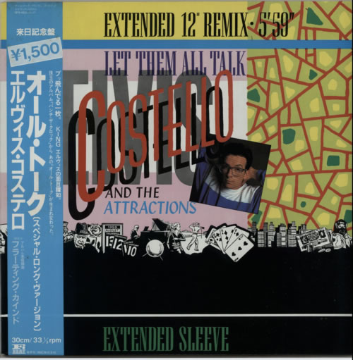 "Elvis Costello Let Them All Talk 12"" vinyl single (12 inch record / Maxi-single) Japanese COS12LE166491"
