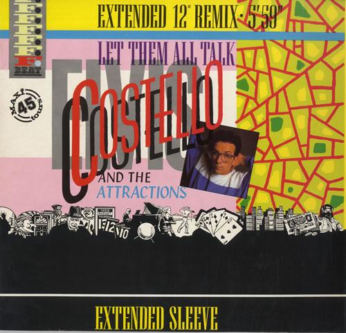 "Elvis Costello Let Them All Talk 12"" vinyl single (12 inch record / Maxi-single) French COS12LE561745"