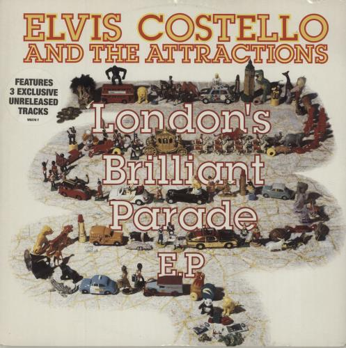 "Elvis Costello London's Brilliant Parade EP - Stickered sleeve 12"" vinyl single (12 inch record / Maxi-single) UK COS12LO534511"